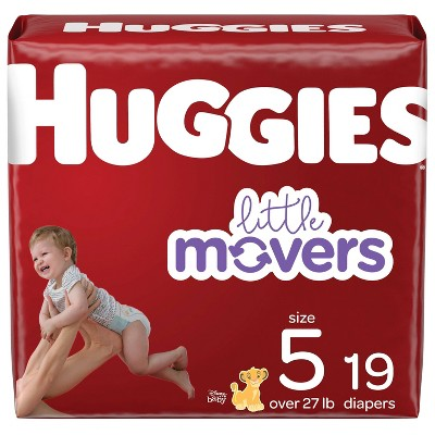 Huggies Little Movers Baby Diapers - Size 5 (19ct)