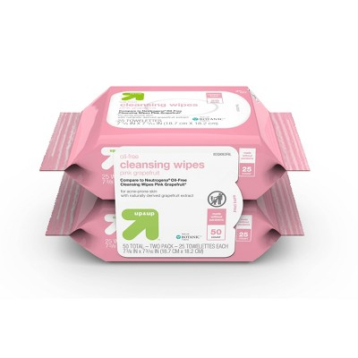 Grapefruit 50ct Facial Wipes - up & up™