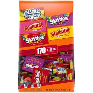 Skittles, Starburst, LifeSavers Halloween Fun Size Candy Variety Pack - 63.43oz/170ct