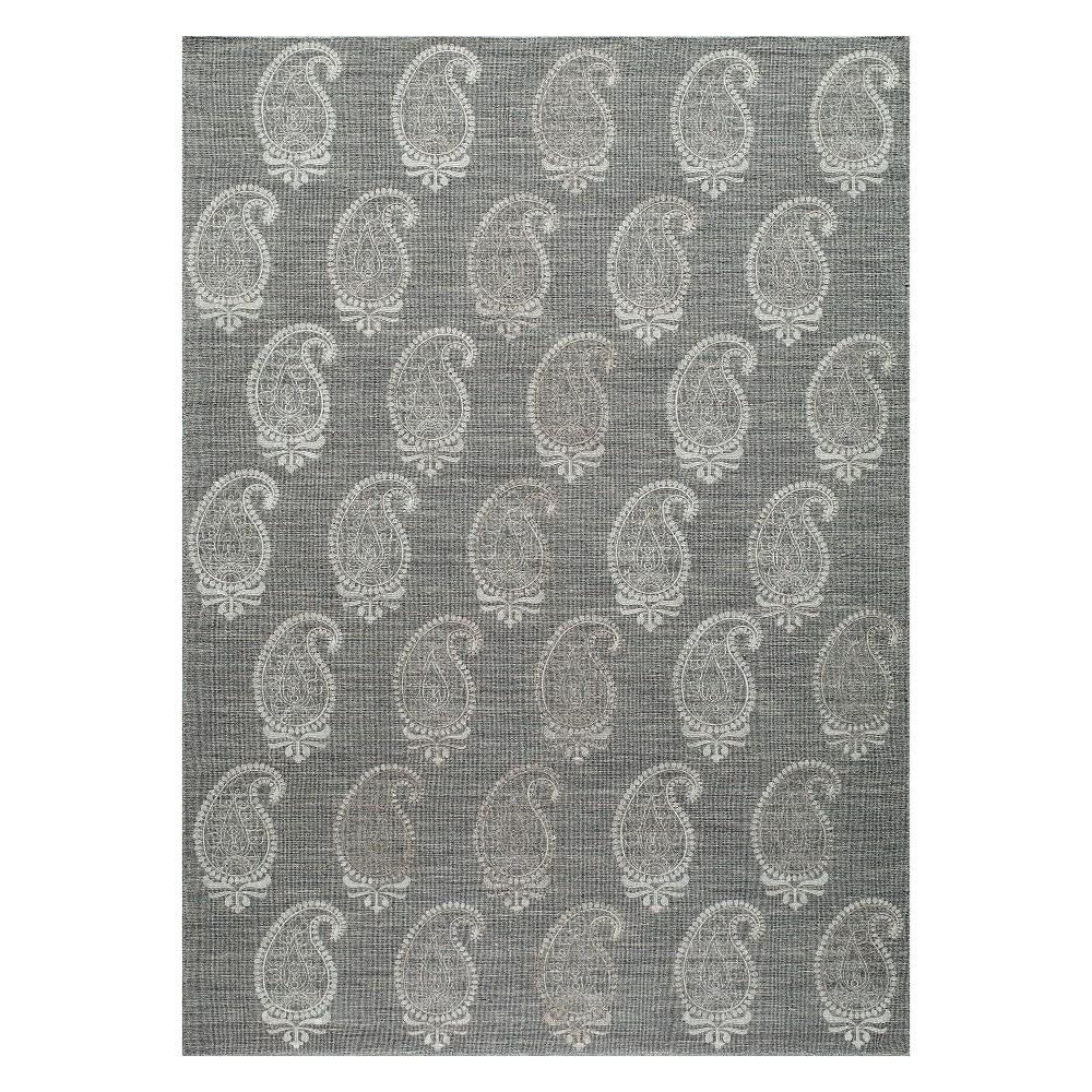 5'X8' Paisley Woven Area Rug Gray - Momeni