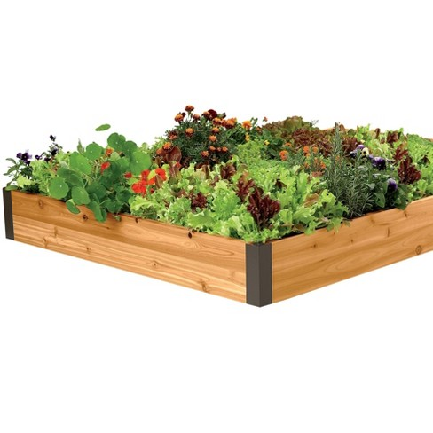 Cedar 4' x 8' Raised Garden Bed With 4 Aluminum Corners - Gardener's Supply Company - image 1 of 2