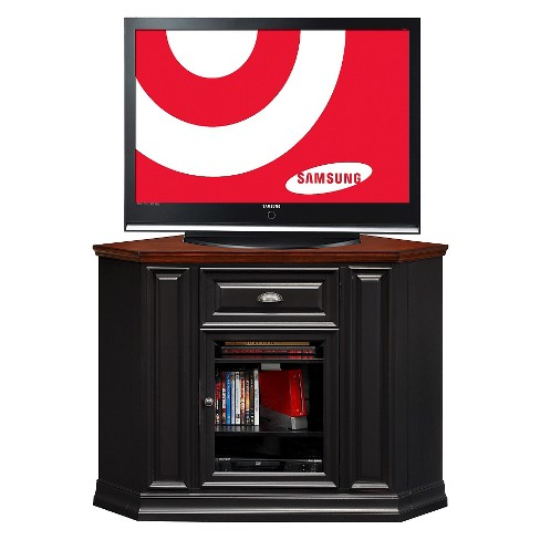 46 Riley Holliday Corner Tv Console Black Cherry Leick Home Target