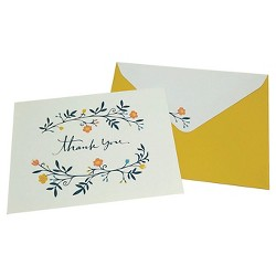 24ct Floral Pattern Card Pack White