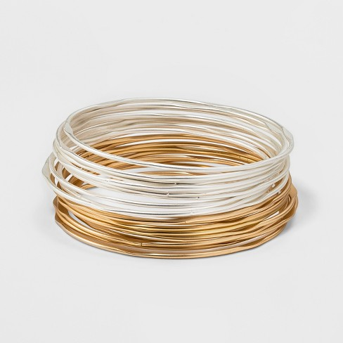 Textured Bangle with Multi Row Bracelet Set - Universal Thread™ - image 1 of 1