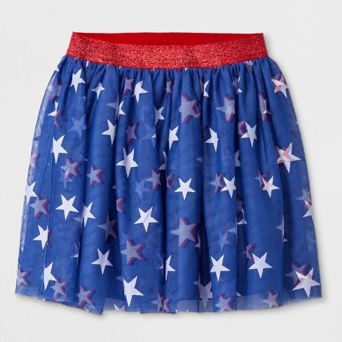 91c4a4246c Girls' Star Print Glow-In-The-Dark Americana Tutu Skirt - Cat & Jack™ Blue