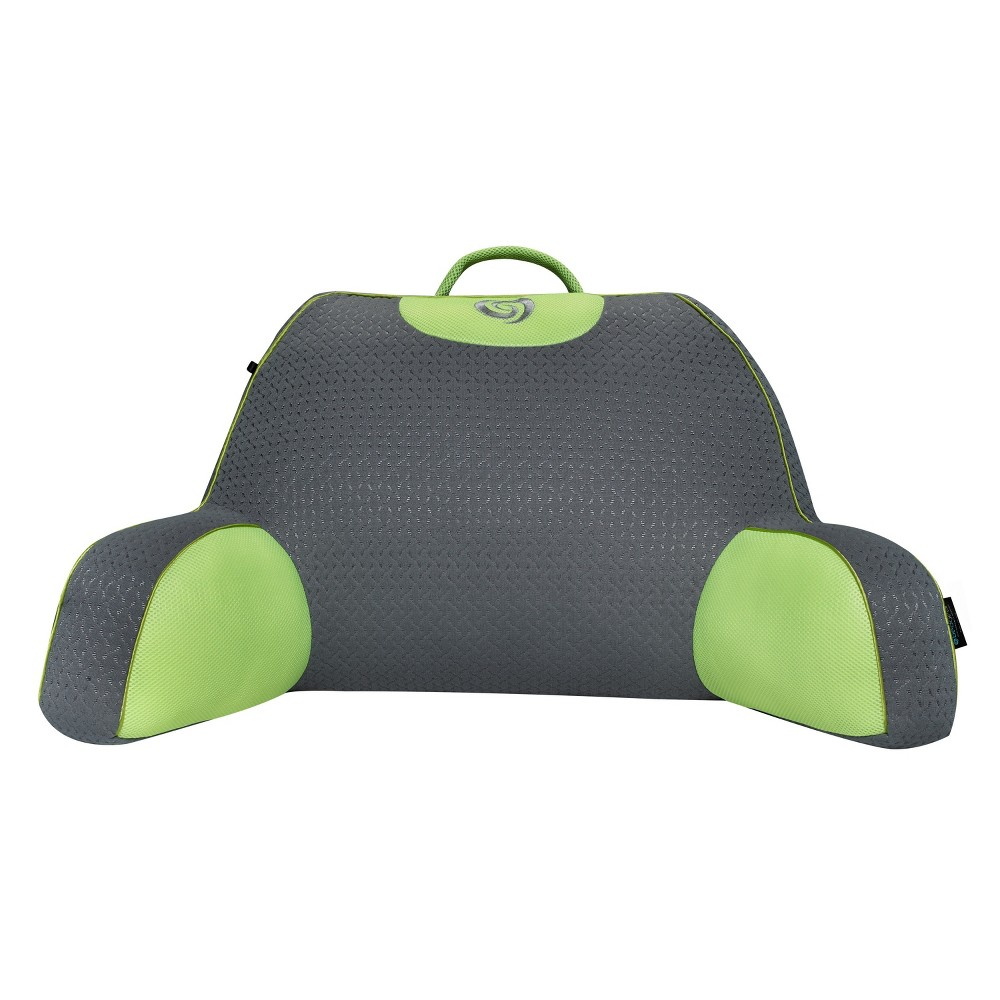 Image of Fusion Performance Support Pillow (Lime/Gray) - Bedgear, Green/Gray