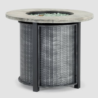 Logan 30 x30  Round Patio Fire Table - Gray - Sego Lily