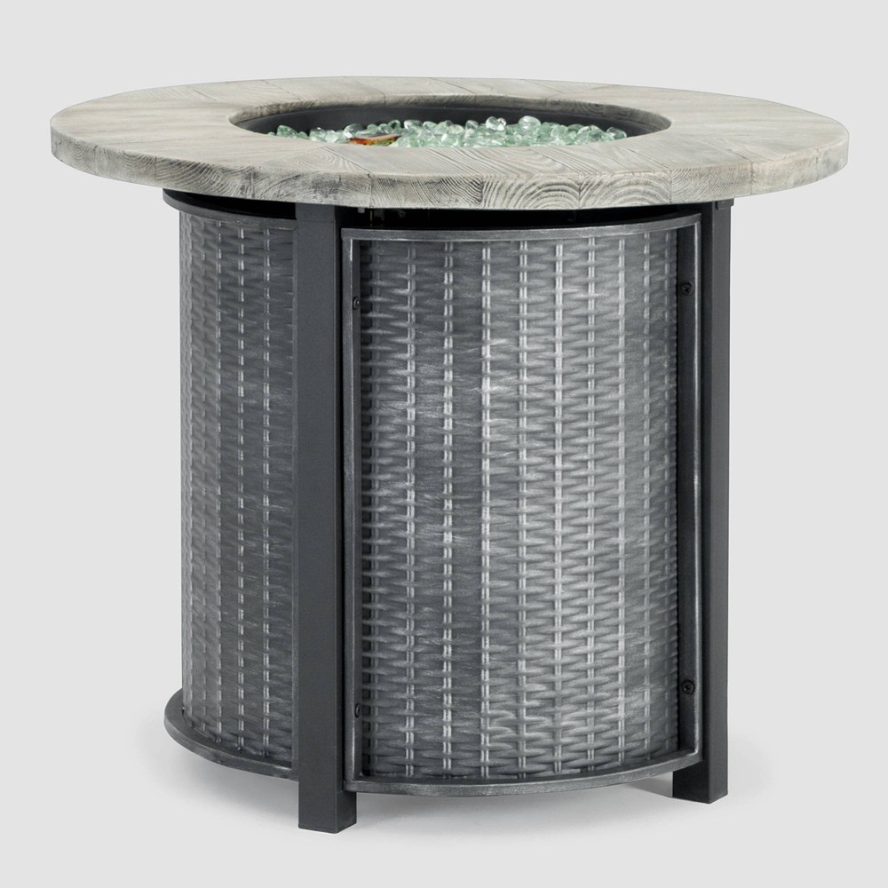 """Image of """"Logan 30""""""""x30"""""""" Round Patio Fire Table - Gray - Sego Lily"""""""