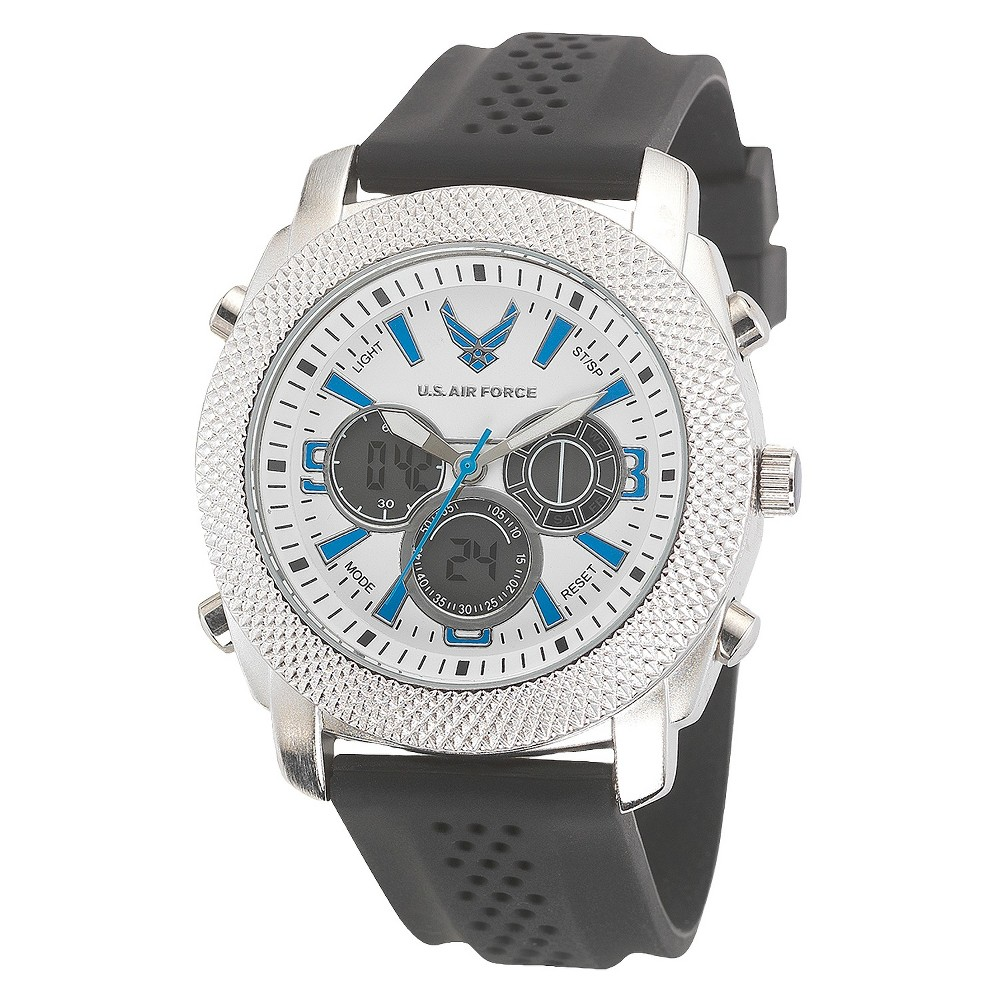 Men's Wrist Armor U.S. Air Force C21 Analog-Digital Quartz Watch - White, Men's, Size: Small