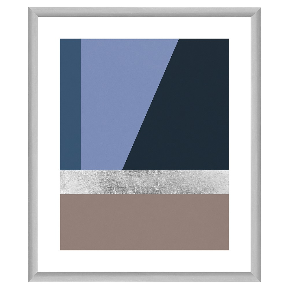 Silver Lining 18X22 Wall Art, Multi-Colored Showcase your love for contemporary style by adding this Silver Lining Wall Art to your decor. Boasting shades of blues and brown marked by clear lines accented with a silver lining and a silver frame, this digital wall art infuses subtle color and sleek sophistication. Used on its own as a focal point or mixed and matched with other pieces of wall art, this contemporary wall art instantly transforms any plain-looking wall into a piece of art. For a balanced look, pair the neutral shades of the framed wall art with bright pieces of furniture. Color: Multi-Colored. Gender: Unisex. Age Group: Adult.