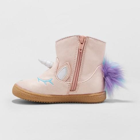 7125623612b9 Toddler Girls  Leticia Metallic Unicorn Ankle Boots - Cat   Jack™   Target