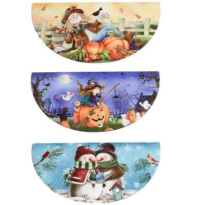 Lakeside Interchangeable Seasonal Doormats - Welcome Mats - Set of 3 - Fall/Winter