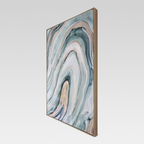"Agate Framed High Gloss Canvas 36""x24"" - Project 62™ - image 1 of 3"