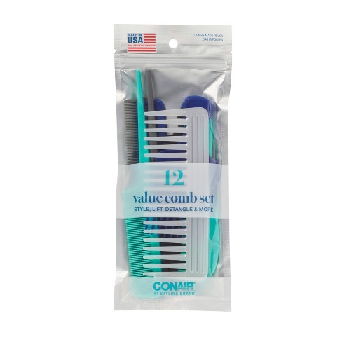 Conair Multipack Combs Made in USA - 12pc - image 1 of 4