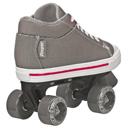 Roller Derby Zinger Boy's Roller Skate - Black/Gray - 3, Boy's image number null