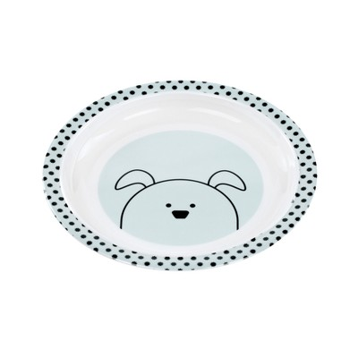Lassig Little Chums Dog Plate - Blue/White