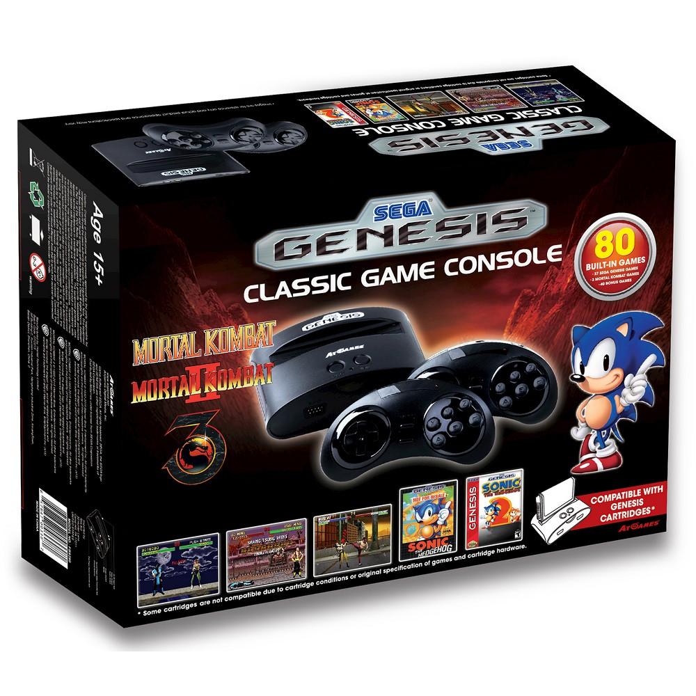 Sega Genesis Classic Game Console, Black Sega Genesis Classic Game Console Color: Black.