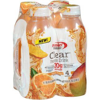 Premier Protein Clear 20g Protein Drink - Orange Mango - 16.9 fl oz/4pk Bottles