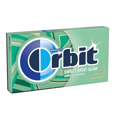 Orbit Sugar Free Sweet Mint Chewing Gum Single Pack - 14 Piece - image 1 of 3