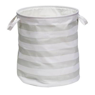 Honey-Can-Do Multipurpose Hamper Gray Stripe