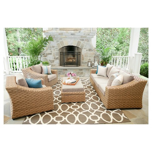Elizabeth 6pc Deep Seating with Sunbrella Fabric - image 1 of 5