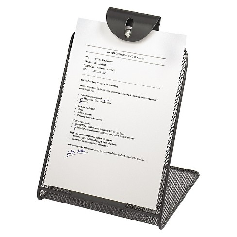 Safco® Onyx Mesh Copyholder w/Steel Ball Fastener, Black - image 1 of 1