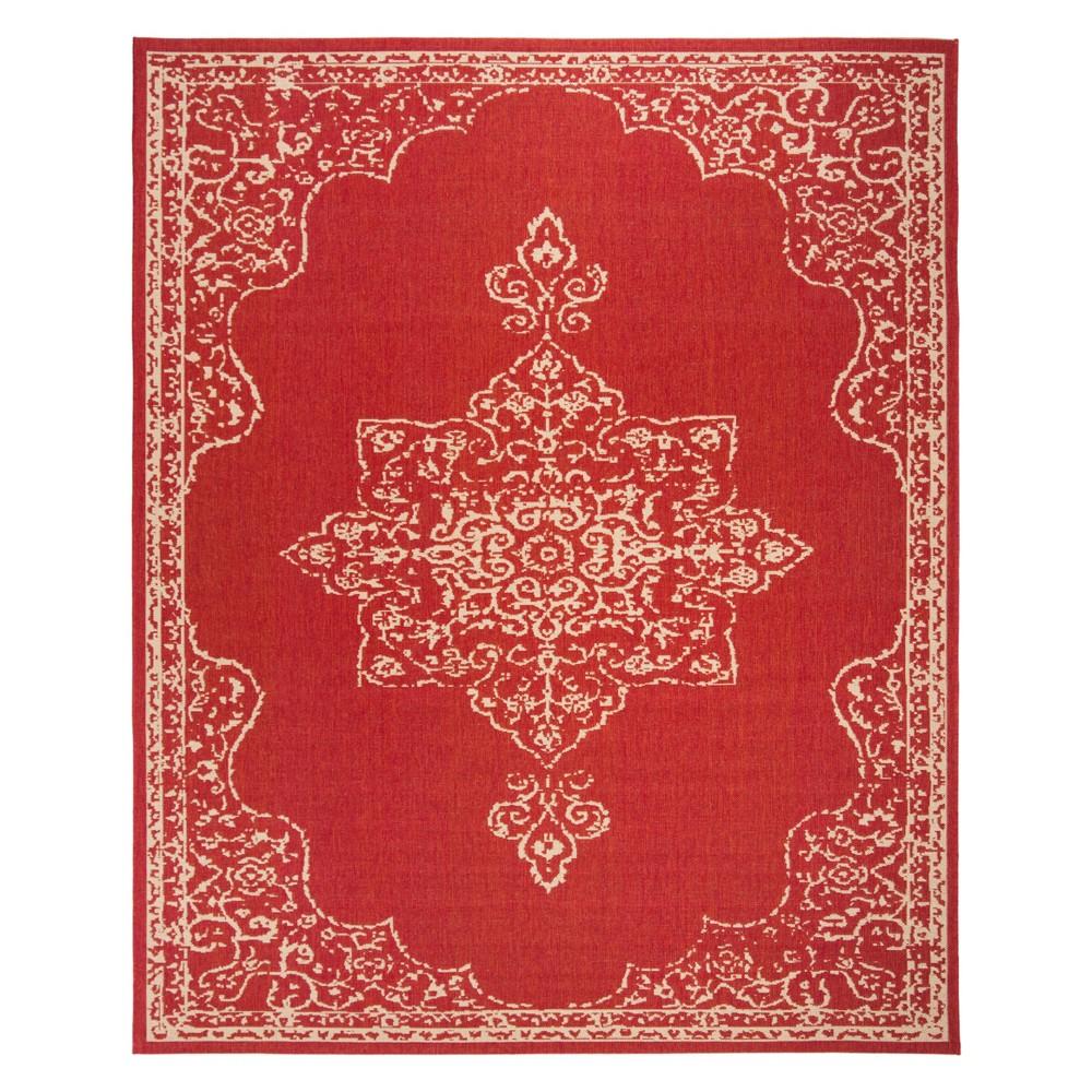 9'X12' Medallion Loomed Area Rug Red/Cream (Red/Ivory) - Safavieh