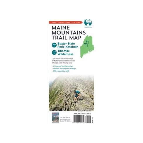 Appalachian Mountain Club Maine Mountains Trail Maps 1-2 : Baxter State  Park-katahdin and Maine Woods