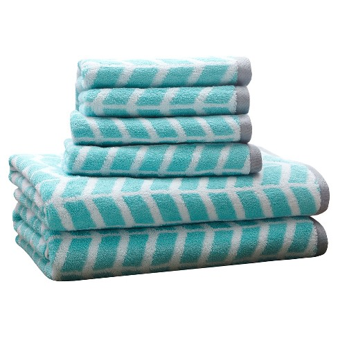 6pc Jacquard Bath Towel Set Target