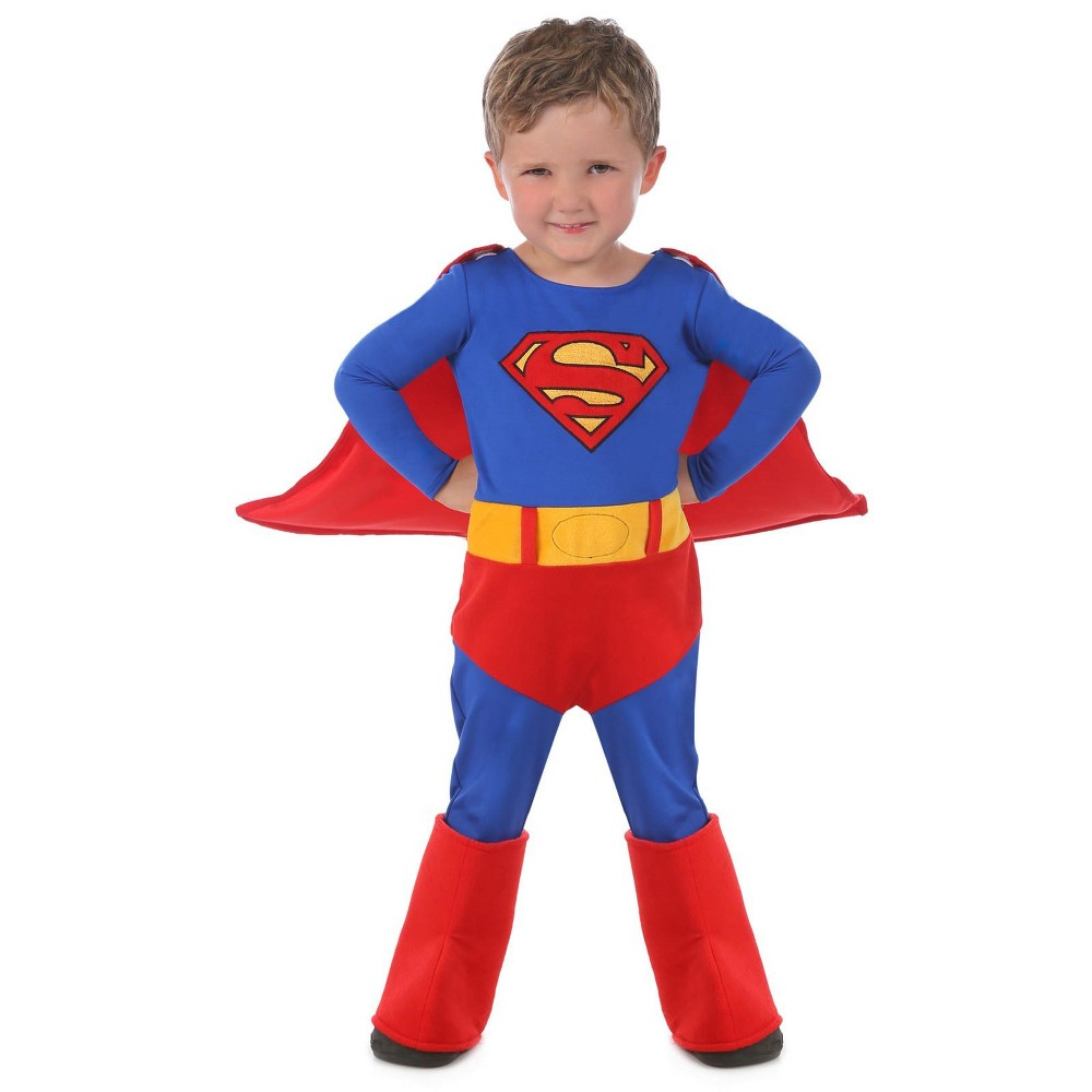 Baby Boys' Superman Cuddly Halloween Costume - Princess Paradise, Size: 12-18M, Multi-Colored