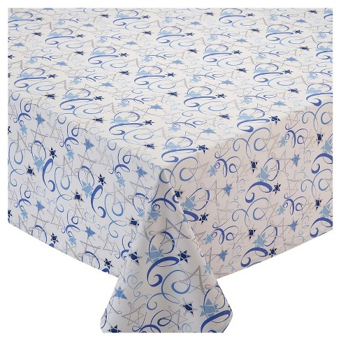 Hanukkah Swirl Tablecloth - Design Imports - image 1 of 1