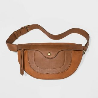 Women's Zip Closure Fanny Pack - Universal Thread™ Cognac