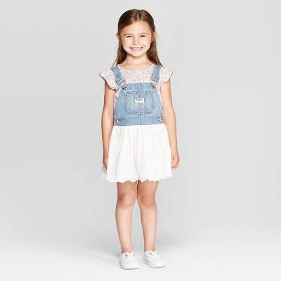 OshKosh B'gosh Toddler Girls' Eyelet - Jumper Blue 5T