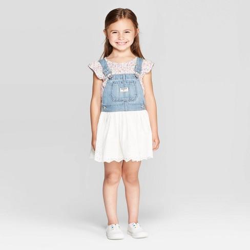 3a7a33cf62a OshKosh B gosh Toddler Girls  Eyelet Jumper - Blue   Target