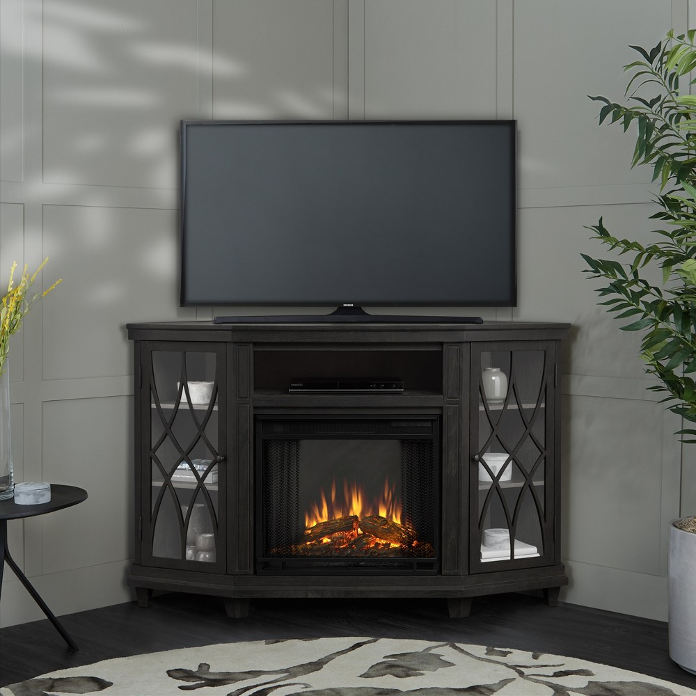 Image of Real Flame Lynette Electric Fireplace Entertainment Center - Gray