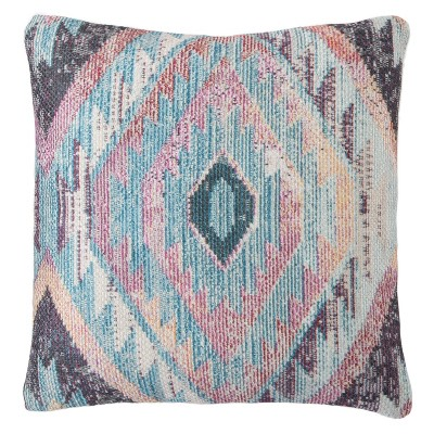 "18""x18"" Sinai Indoor/Outdoor Geometric Throw Pillow Blue - Jaipur Living"