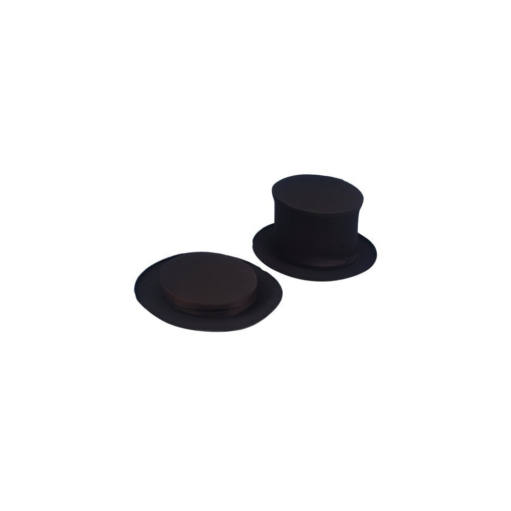 Image of Adult Collapsible Top Hat Black, Men's
