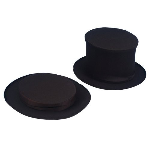 Adult Collapsible Top Hat Black, Men's