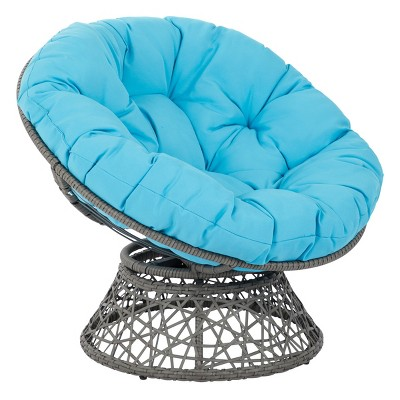 Papasan Chair Blue - OSP Home Furnishings