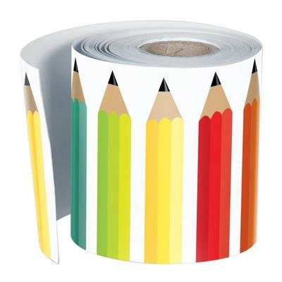 12pk 36ft  Pencils Classroom Borders Black White and Stylish Brights - Schoolgirl Style