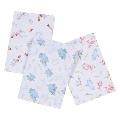 Trend Lab® Dr. Seuss™ Muslin Swaddle Blanket - 3pk
