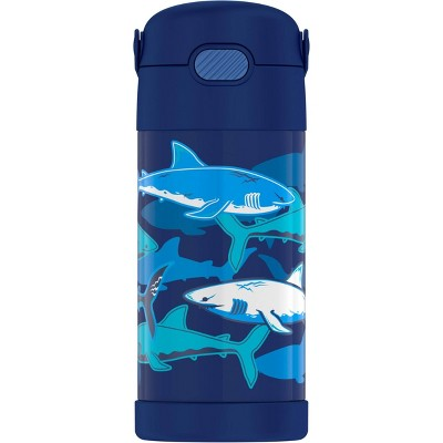 Thermos Sharks 12oz FUNtainer Water Bottle with Bail Handle - Blue