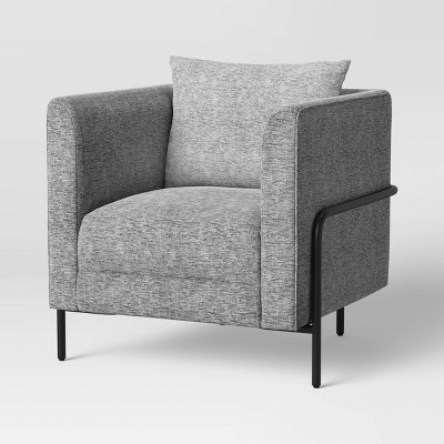 Ostern Upholstered Armchair with Metal Frame Gray - Project 62™