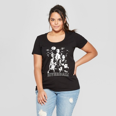 Women's Plus Size Short Sleeve Riverdale Characters Graphic T-Shirt - Ripple Junction (Juniors') Black - image 1 of 2
