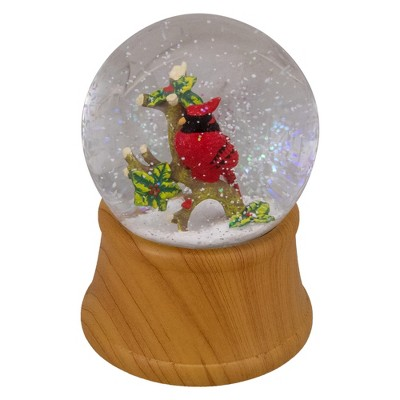 "Northlight 5"" Red Cardinal on Branch Christmas Snow Globe"