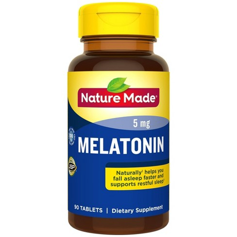 Nature Made Melatonin 5 mg Tablets - 90ct - image 1 of 3