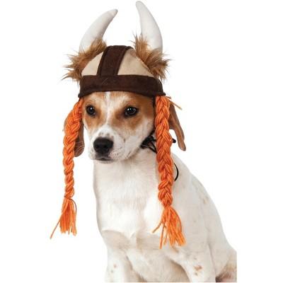 Rubies Viking Hat w/Braids Pet Costume