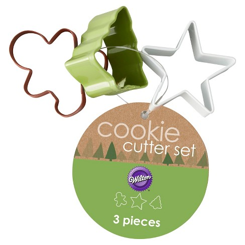 Wilton 3Pc Mini Cookie Cutter Set on Ring - image 1 of 3
