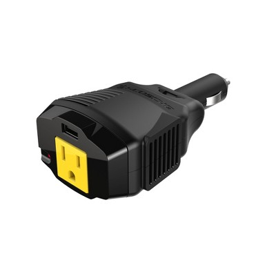 Scosche 100W Power Inverter 12V with 12W USB and AC Outlet