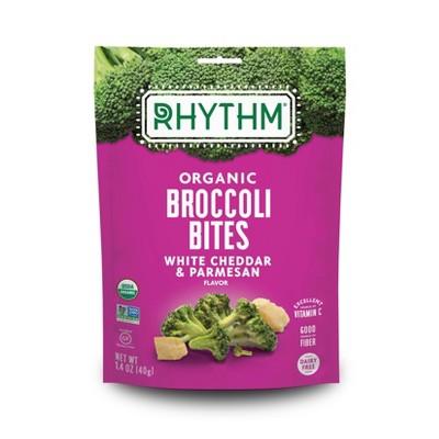Rhythm White Cheddar & Parmesan Organic Broccoli Bites - 1.4oz